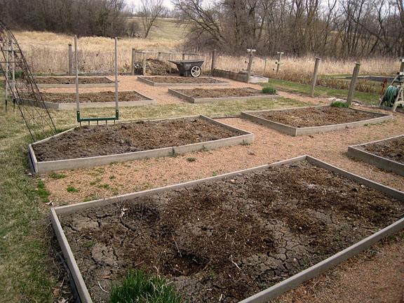 Compost Spread onto Garden Beds