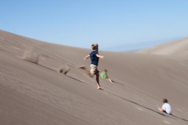 Charlie Running Dunes 2