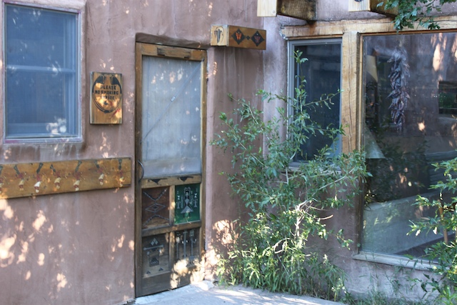 Main entry door to Adobe Inn
