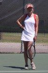 I play tennis too. though I don't straighten my hair in the summer.