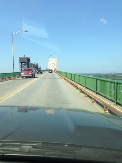 Bridge to the border crossing in Sault St. Marie