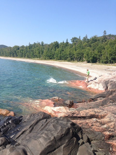 Cooling off in Lake Superior