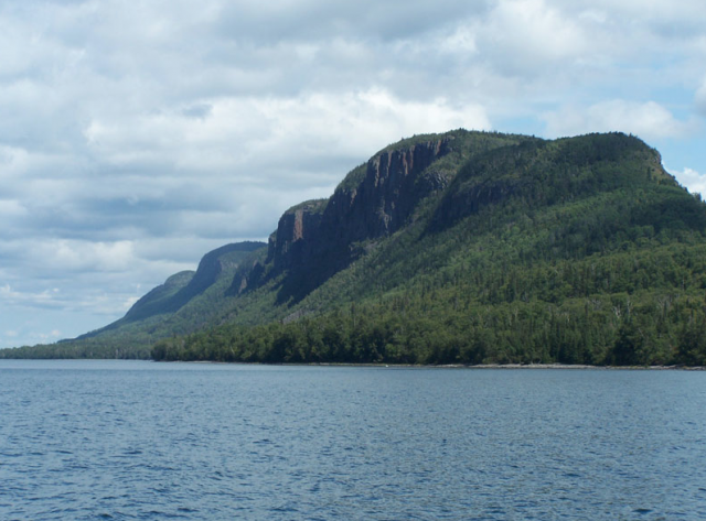 Beautiful scenery on drive to Lake Superior Provincial Park