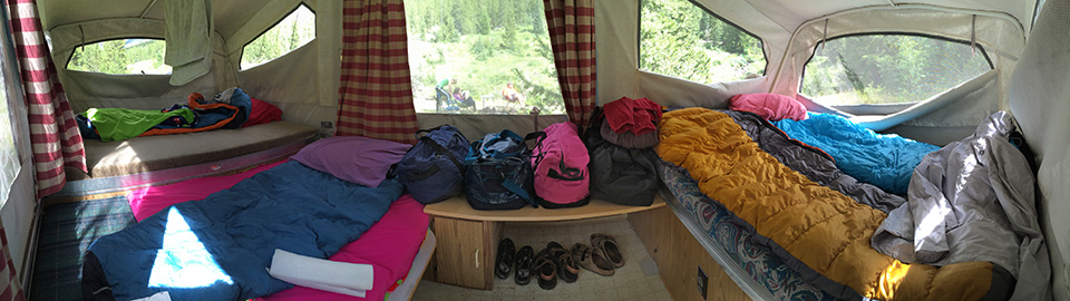 Here is a pano of the inside of the camper. Oh I love it so!