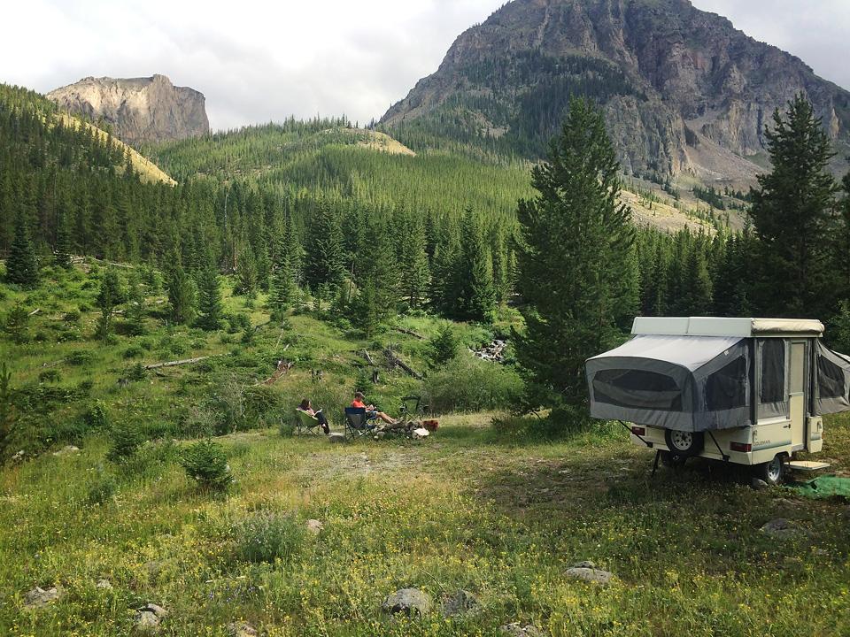 Our campsite in morning. So pretty!
