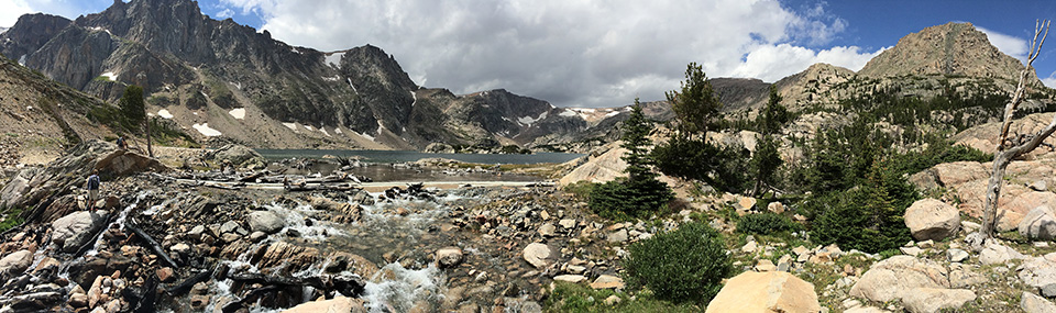 Pano of Glacier Lake.